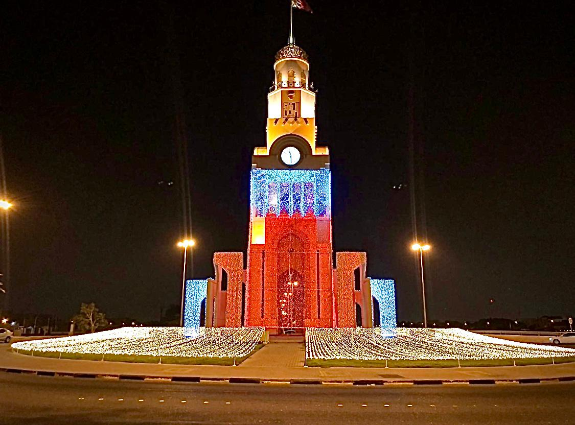 "The municipality of ""Southern"" decorates the main streets with night lighting on the occasion of national holidays"