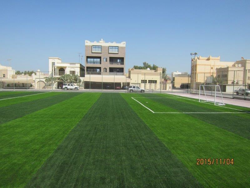 Developing the ground of Al-Ihsan Stadium
